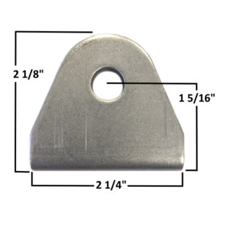 AA-421-A Double Sheer Seat Belt Tab