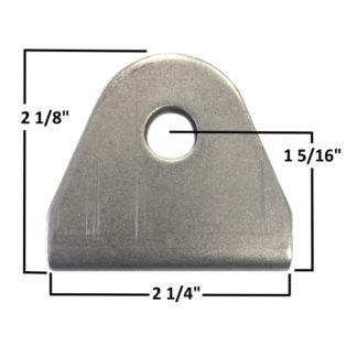 AA-421-A Double Sheer Seat Belt Tab