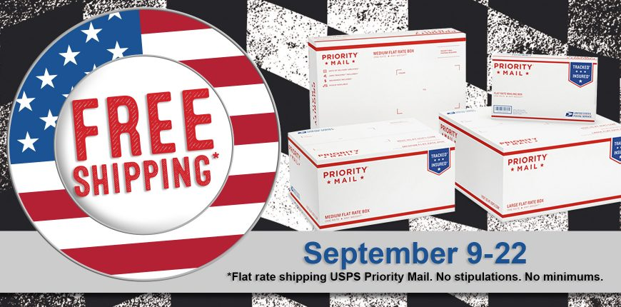 Free Flate Rate Shipping USPS Priority Mail