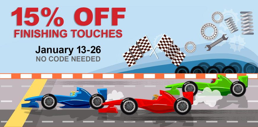 Sale Banner with Racecars