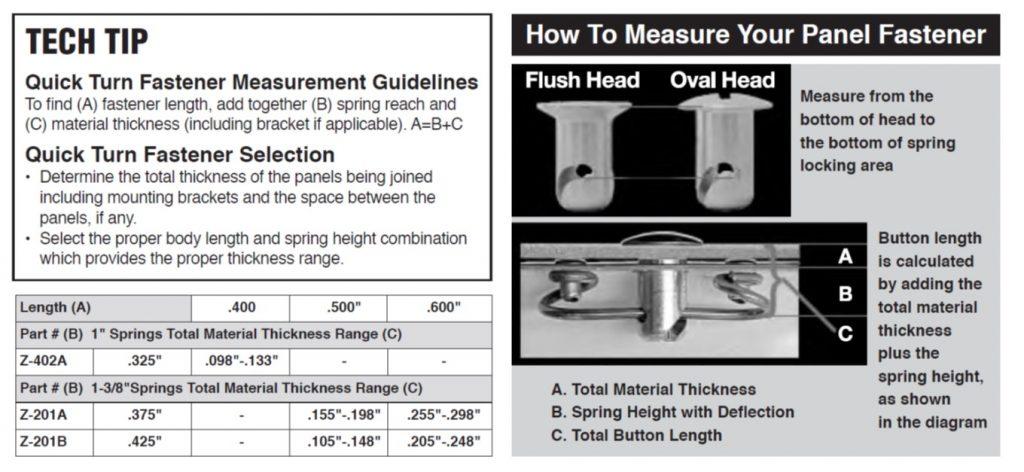aa-mfg.com Dzus Measurement Info